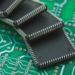 Pile of microchips — Stock Photo