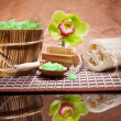 Composition of bathing accesories - Stock Photo