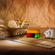 Stock Photo: Set of bathing articles