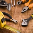 Set of building tools - Stock Photo
