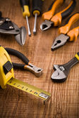 Set of building tools — 图库照片