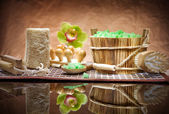 Set of sauna accessories — Stock Photo