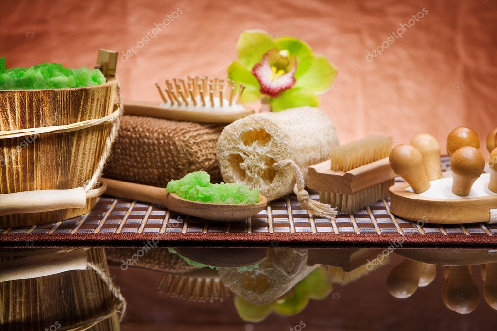Set of natural bath accessories  Stock Photo #5398357