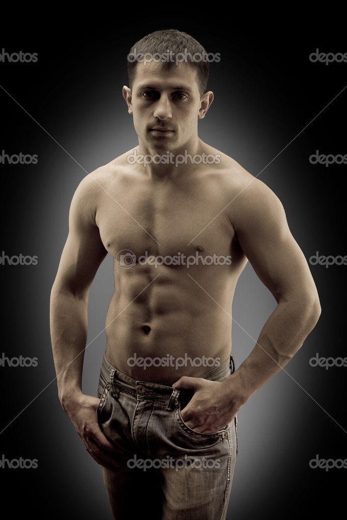 Still muscular man — Stock Photo #5398529
