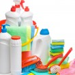 Stock Photo: Copyspace cleaning supplies composition