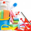 Copy space image of cleaning accessories — Stock Photo #5797568