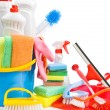 Copy space image of cleaning accessories — Stock Photo