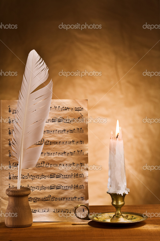 Copyspace background of musical writing — Stock Photo #5797640