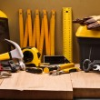 Stock Photo: Composition of working tools