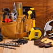 Set of working tools - Stock Photo