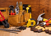 Set of working tools — 图库照片