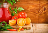 Still-life of tomatoes nutrition — ストック写真