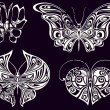 Set of vintage butterflies - Image vectorielle