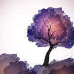 Magic tree with stars — Stock Vector #6566984