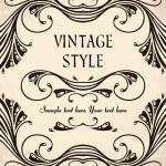 Vintage frame — Stockvektor