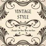 marco Vintage — Vector de stock