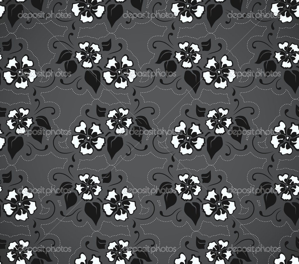 Seamless pattern with flowers, vector format  Stock Vector #6566828