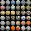 Balls of different materials - seamless texture - Stock Photo