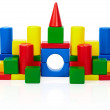 Toy castle isolated on white background — Stock Photo
