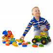 Boy playing with toys — Stock Photo #5562050