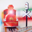 Toy steam engine closeup — Stock Photo #5586847