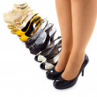 Set of summer shoes for modern woman - Stock Photo