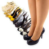 Set of summer shoes for modern woman — Stock Photo
