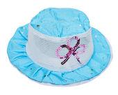 Children's summer blue hat — Stock Photo