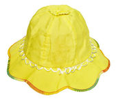 Children's summer yellow hat — Stock Photo