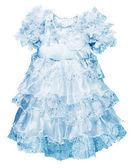 A little blue dress for girls — Stock Photo