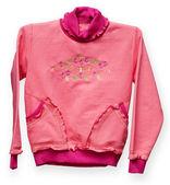 ピンクの赤ちゃんのセーターのパターンを持つ — ストック写真