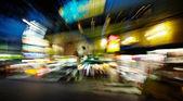 Night streets - drunk's eye view — Stock Photo