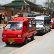 Stock Photo: Small buses taxis in Thailand