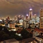Landscape - night metropolis illuminated by lights — Stock Photo #6231530