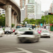 Slow-moving traffic on street — Stock Photo #6272211