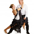 Young couple dancing ballroom dance — Stock Photo