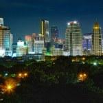 Shining lights of nighttime city — Stock Photo
