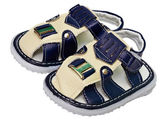 Baby läder sandal — Stockfoto