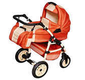 Pushchair for transporting children in winter — Stock Photo