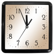 Simple square clock — Stock Photo