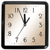 Simple square clock — Stock Photo