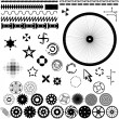 Set of vector elements for design - gears, wheels — Stock Vector
