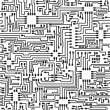 Stok Vektör: Seamless hi-tech electronic vector pattern