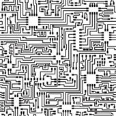 Seamless hi-tech electronic vector pattern — Stok Vektör