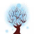 Vector illustration of a winter tree — Stock Vector