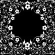 Vector illustration of a floral ornament on black background - Stock Vector