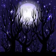 Vector illustration of a night scene. - Stock Vector