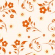 Vector illustration of a seamless floral pattern - Stock Vector
