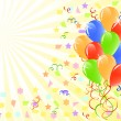 Vector illustration of a bunch of ballons with space for text. — Stock Vector