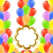 Vector illustration of a bunch of balloons with space for text. — Stock Vector
